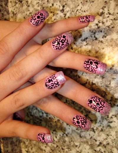 82 best nail designs images on pinterest hairstyle ideas and beautiful cheetah nail designs prinsesfo Choice Image