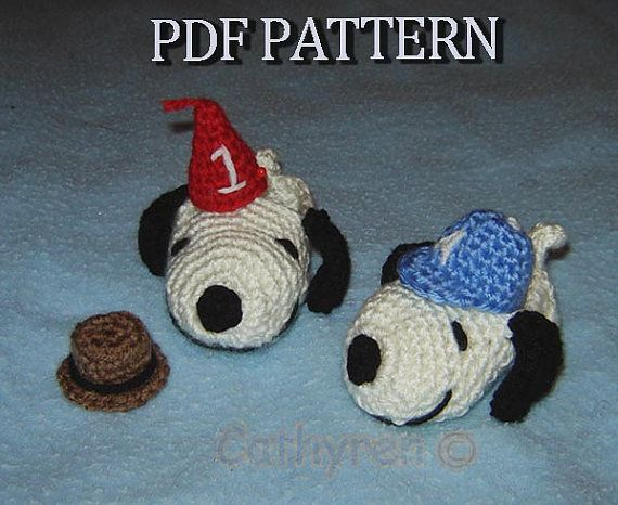 Snoopy Baby Booties Wearing Fedora Hat Birthday Hat by Cathyren, $4.50
