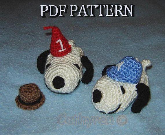 Снупи Детские пинетки, надев шлем Fedora, день рождения шляпу и спорта Хет-мгновенный скачать вязание крючком узор