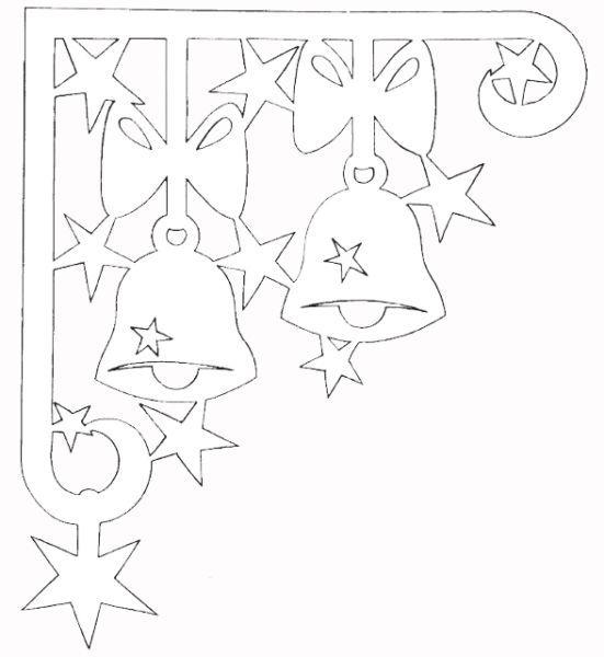 Новогодние трафареты и шаблоны для вырезания на окна ...
