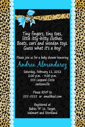 39 best zebra, leopard, animal print, baby shower invitations, Birthday invitations