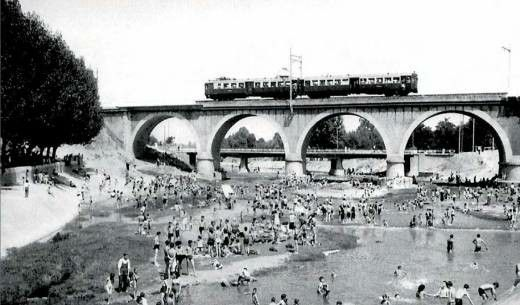Antigua foto Puente de los Franceses MADRID