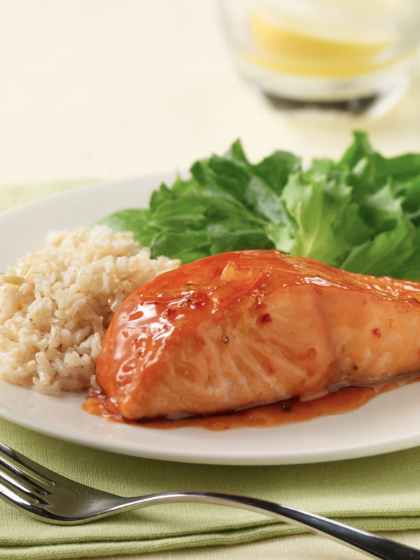 Try this Sweet Orange Glazed Salmon, the orange marmalade and it gives the salmon a tangy and sweet taste.