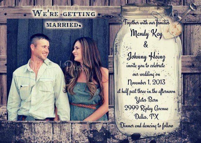 18 Rustic Wedding Invitations {Trendy Tuesday} | Confetti Daydreams - A mason jar rustic wedding invitation printable
