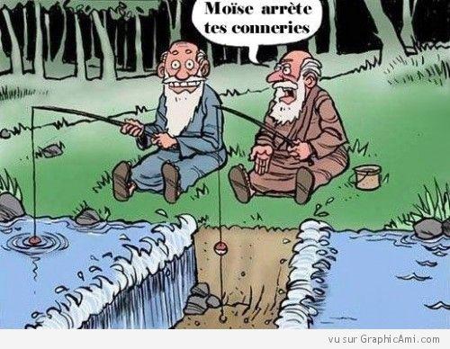 Petite blague de Moïse, lors d'une partie de pêche avec un pote !