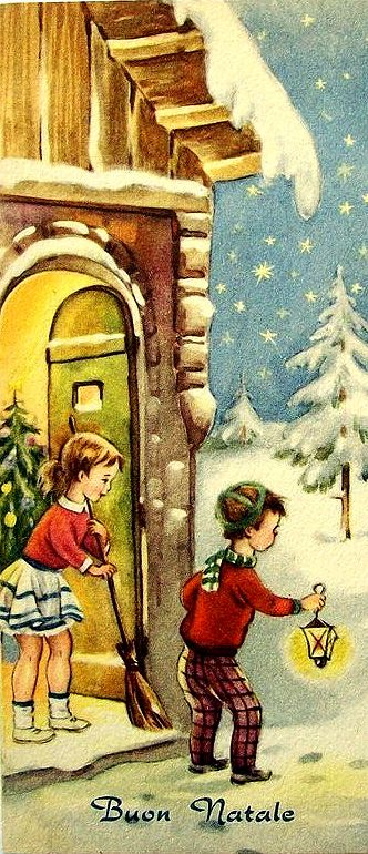 .Vintage postcards New Year and Christmas