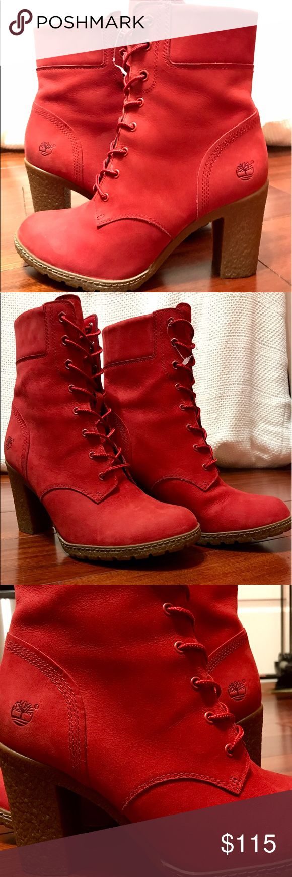 LIMITED RELEASE RUBY RED GLANCY 6-INCH HEELS TIMBERLAND LIMITED RELEASE--Heel height is 3 inches; shaft height is 5.5 inches Imported-- SIZE 8 NEVER WORN! *PRICE NEGOTIABLE* Timberland Shoes Heeled Boots