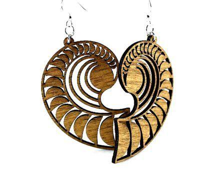 Conch Shell  Wood Earrings