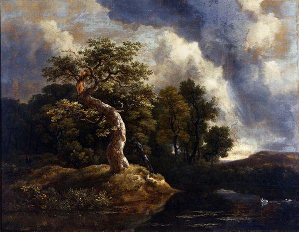 "Jacob van Ruisdael. ""The Gnarled Oak."" 17th C. Oil on canvas."