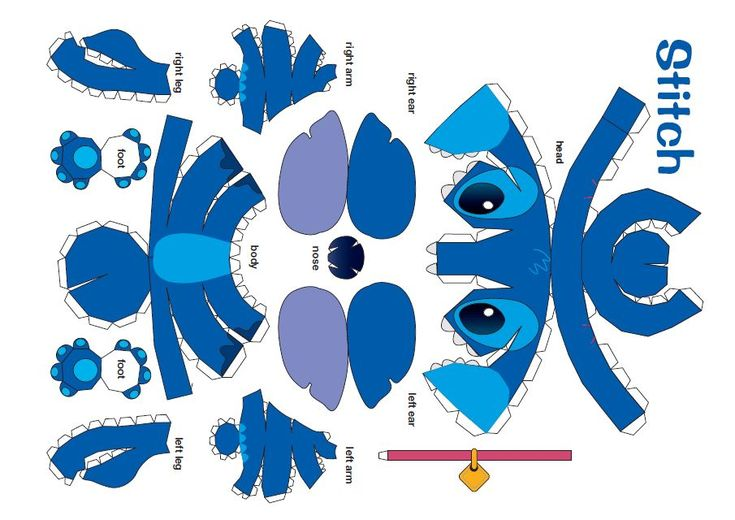 Stitch papercraft pinterest stitches for Lilo and stitch arts and crafts