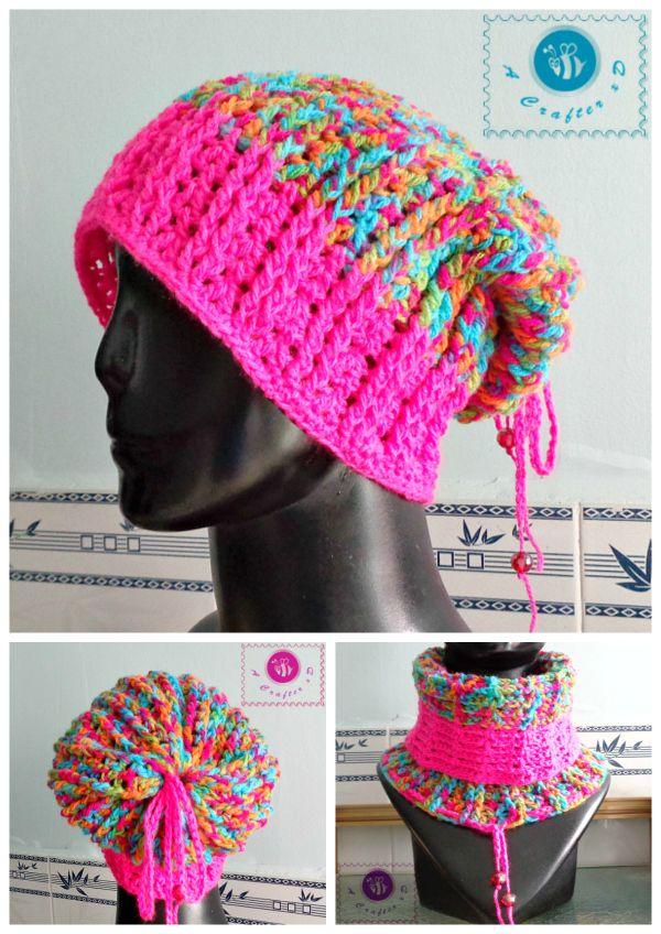 Crochet Unisex ribbed slouch hat - Maz Kwok's Designs