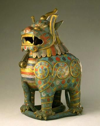 A luduan was a beast which could detect truth, in the Chinese mythology. Thus in the Qing dynasty, rulers such as the Qianlong Emperor would surround his throne with luduan in order to properly subdue his subjects.