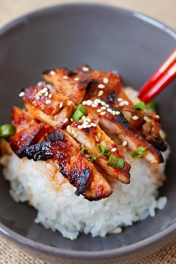 Spicy Korean Chicken - amazing and super yummy chicken with spicy Korean marinade. So easy to make, cheaper, and better than takeout | rasamalaysia.com