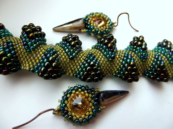 Crocodile bracelet and earings