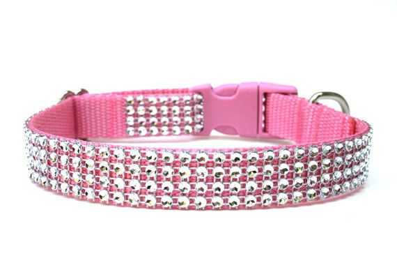Hey, I found this really awesome Etsy listing at https://www.etsy.com/listing/150106095/rhinestone-dog-collar-34-pink-dog-collar