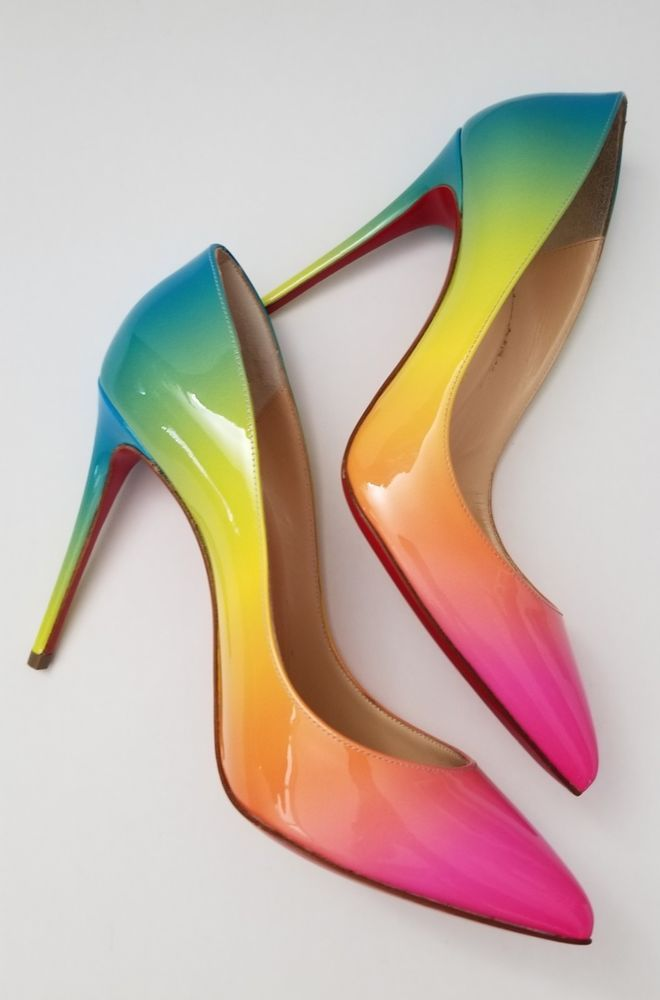 84fd1cb0a4e Christian Louboutin Rainbow Pigalle Follies Pump 100 mL size 36 ...
