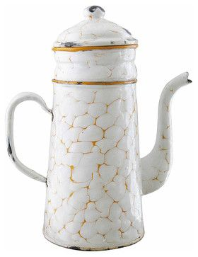 Orange Chickenwire Enamel Coffee Pot - Mediterranean ♥️