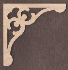 WT1688-Laser cut Gingerbread Corner Bracket