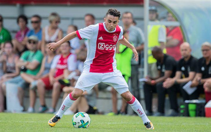 Download imagens Abdelhak Nouri, Futebol, Ajax, clube de futebol, Amesterdão, Holanda jogador de futebol, Países baixos