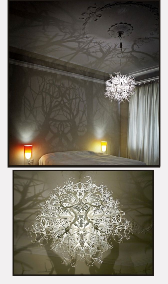 chandelier produces wild forest of.