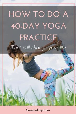 Click through to discover how a 40-day yoga practice can heal your mind, heart and soul. Spirituality mindfulness meditation inspiration yoga for beginners self-love self-care