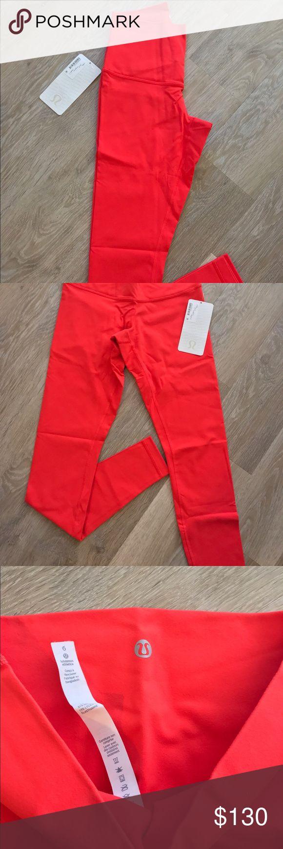 Lululemon Wunder Under Roll Down Pant Alarming Red Lululemon Wunder Under Roll Down Pant Alarming Red size 6  ALL SALES FINAL lululemon athletica Pants Leggings