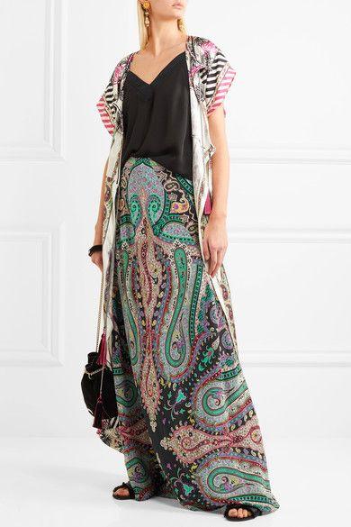 Etro   Printed silk crepe de chine maxi skirt   NET-A-PORTER.COM