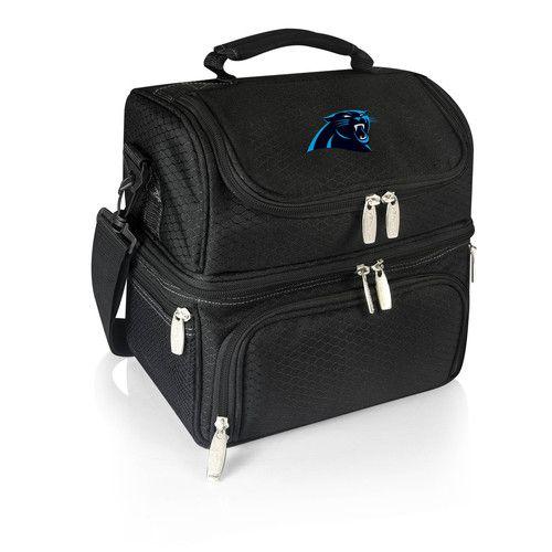 NFL Collectibles - Pranzo Lunch Tote (Carolina Panthers) Digital Print - Black