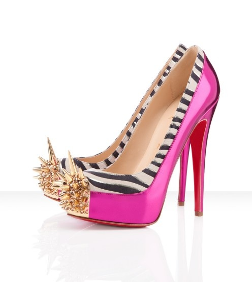 Christian Louboutin Asteroid Spike Toe Pumps Fuchsia/At fire-sale prices