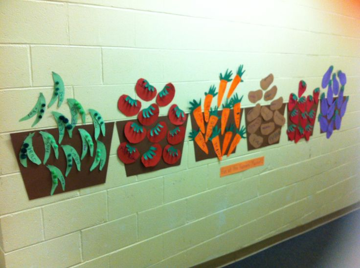 Nutrition unit - Farmers' Market - peas, tomatoes, carrots, potatoes, strawberries and eggplants
