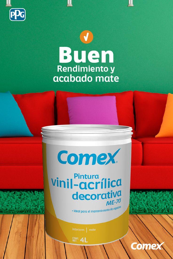 ME-70 es nuestra pintura vinil-acrílica perfecta para interiores. Conoce más aquí: http://www.comex.com.mx/CATALOGUE/Product/ME-70.aspx  #SomosPPGComexLatam #Comex #ComexLATAM #Colorful #Colores #Ideas #Inspiration #Familia