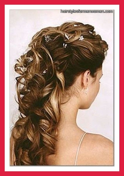 Half Up Half Down Wedding Hairstyles for Medium Length Hair | bridal hairstyles half up half down with veil pictures blog photos ...