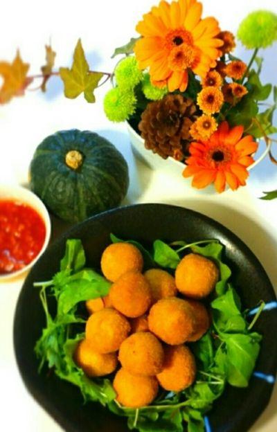 南瓜の煮物リメイクコロッケ