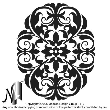 Custom patterns and stencils for etching, faux painting, embossing, sandblasting, stenciling walls, plaster, glass, concrete and wood