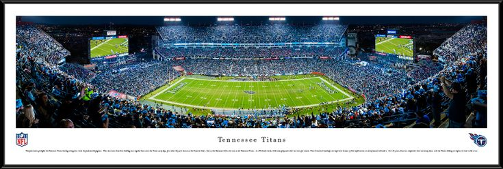 Tennessee Titans Panoramic Picture - Nissan Stadium - Standard Frame $99.95