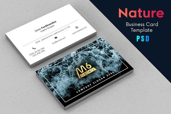 Nature Business Card Template S18 By Jesse Designs On Creativemarket