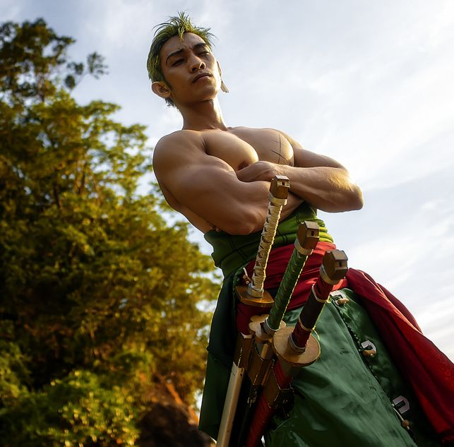 An amazing Zoro cosplay. Check out more awesome cosplays at thelotusaffect.com.