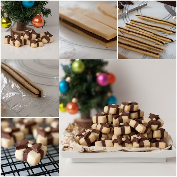 DIY Gift box cookie for holidays f