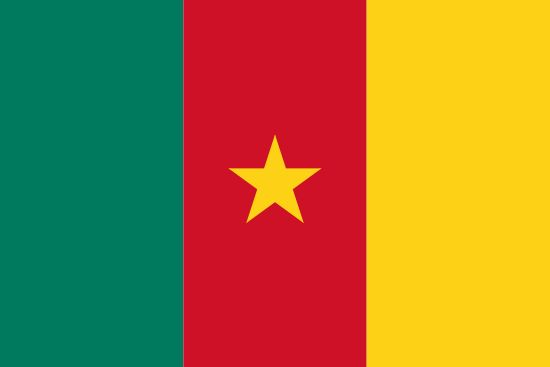 Flag of Cameroon / Capital City: Yaoundé / Continent: Africa