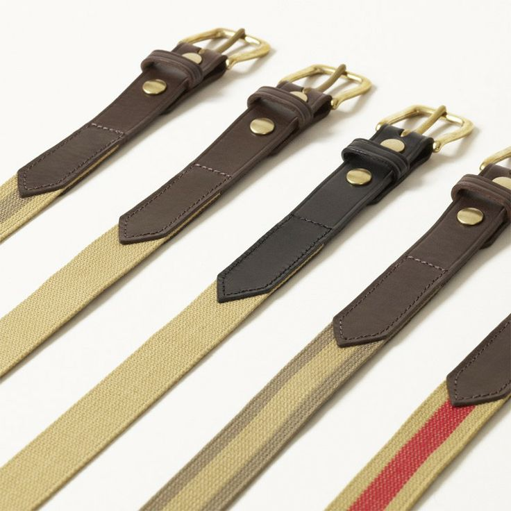 Parachute webbing belt - from Chapman Bags