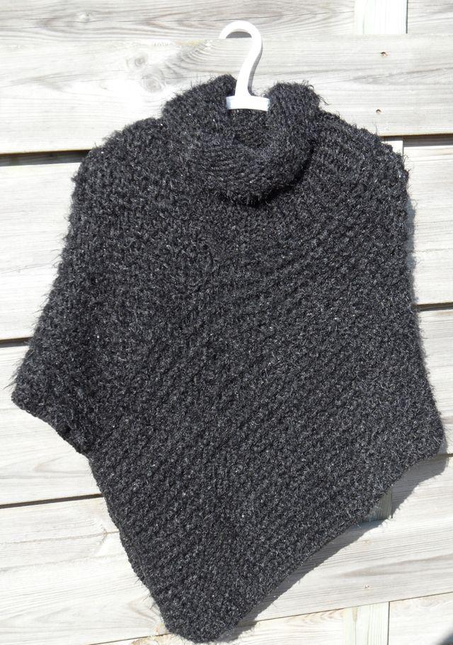 Loom Knitting Poncho : Poncho breien op een breiring pinterest videos