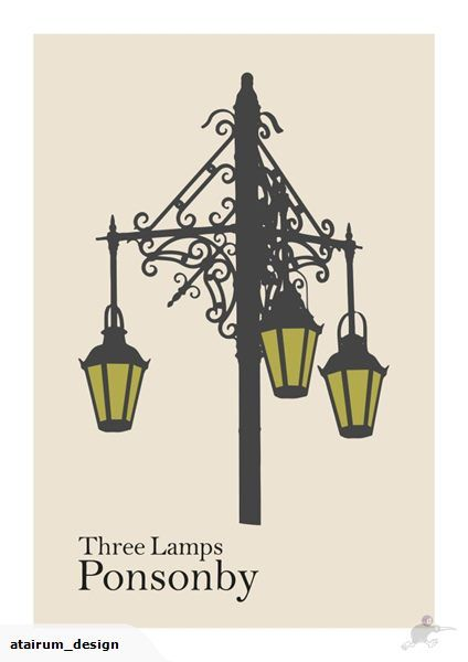 Framed A2 Digital Print - Three Lamps Ponsonby | Trade Me