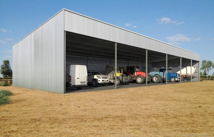 Skillion Roof Farm Shed | Wide Span Sheds can custom design a skillion roof rural scale building for your property.