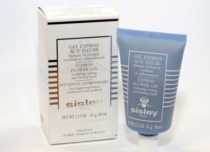 Sisley Express Flower Gel Mask Subtle rose water scent.