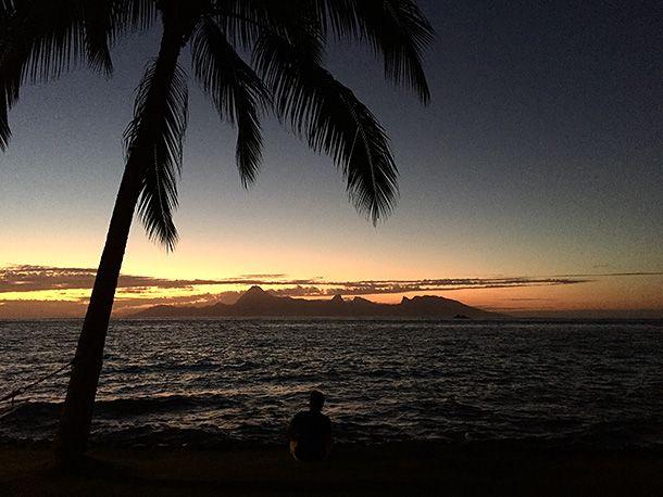 Остров  Муреа,  Французская  Полинезия.