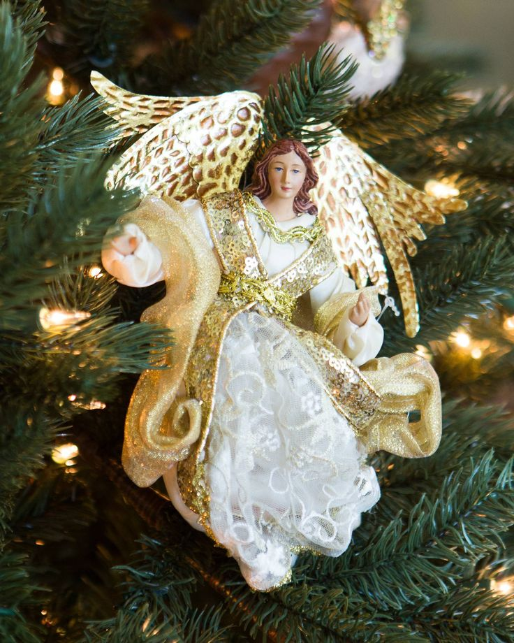 Christmas Tree Angel Decorations: 38 Best Silver & Gold Theme Images On Pinterest