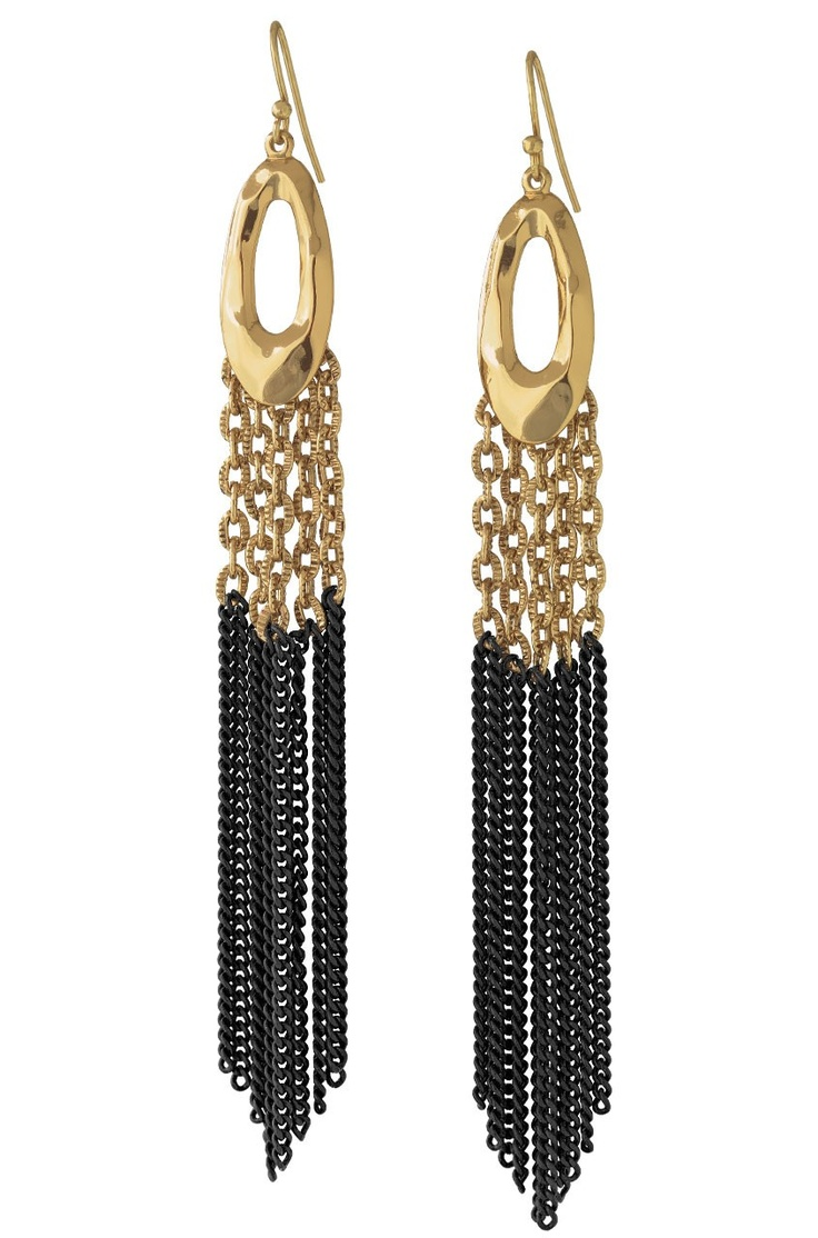 $54 Lillith Fringe Earrings E190Dots Lillith, Fashion Style, Lilith Fringes, Fringes Earrings, Matte Black, Stella Dots, Lillith Fringes, Stelladot, Everyday Outfit