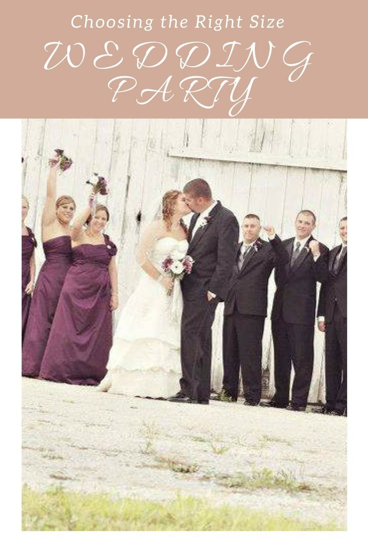 When two people get married, there is a whole slew of  participants that become involved with the wedding. A common question that  crosses every couple's mind is how large or small their wedding party should  be. After all, there are both benefits and disadvantages to having a sizeable  entourage stand by you as you exchange vows