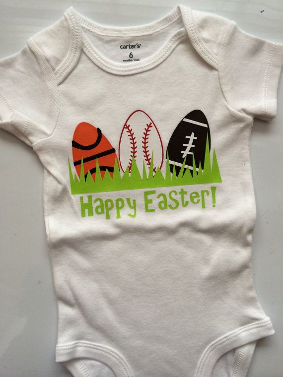 Baby boy Toddler Boy Easter outfit -Sports Easter egg- easter shirt - spring baby boy outfit - easter egg