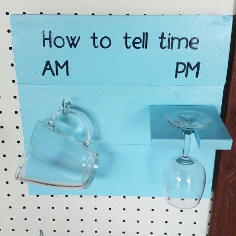 Novelty how to tell time sign Can be made from recycled wood Just $24